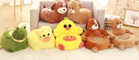 Creative children's small sofa Stuffed animals toys for children Plush Toys dog doll for kids the New Year Christmas decorations