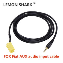 AUX Audio Input Cable Adaptor 3.5mm Jack to ISO 6Pin Connector For Fiat Grande Punto Al-fa 159 Car Stereo Audio Player вибратор mystim al punto фуксия