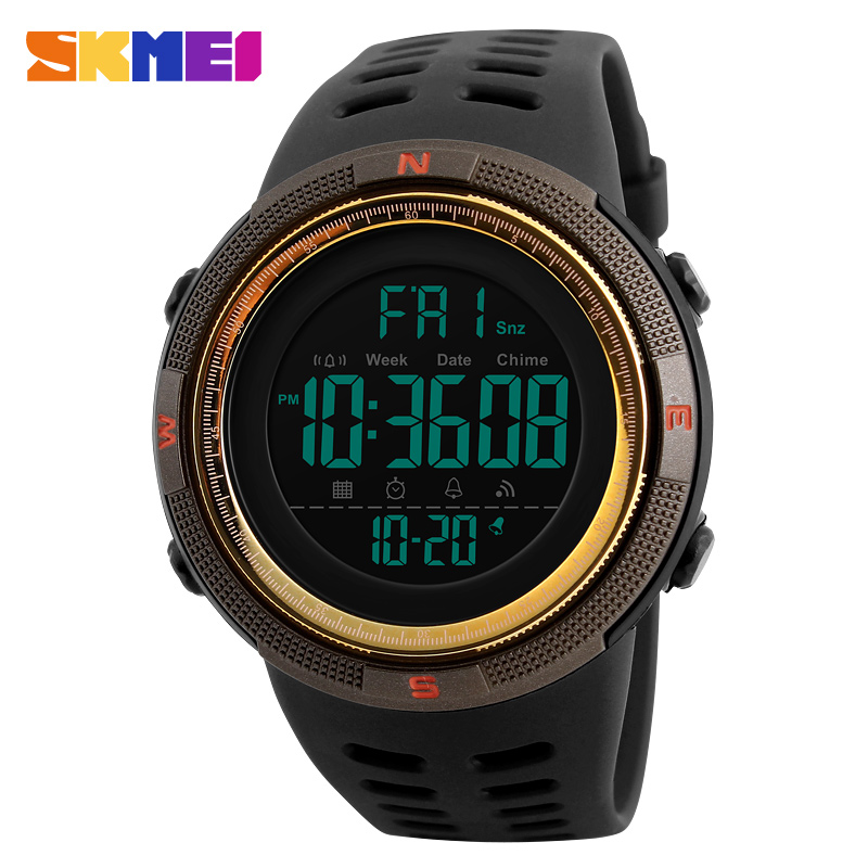 SKMEI Brand Watch Men Waterproof Outdoor Digit Sports Watches Male EL Backlight Electronic Watch Wrist Clock Men Relogio DigitalSKMEI Brand Watch Men Waterproof Outdoor Digit Sports Watches Male EL Backlight Electronic Watch Wrist Clock Men Relogio Digital