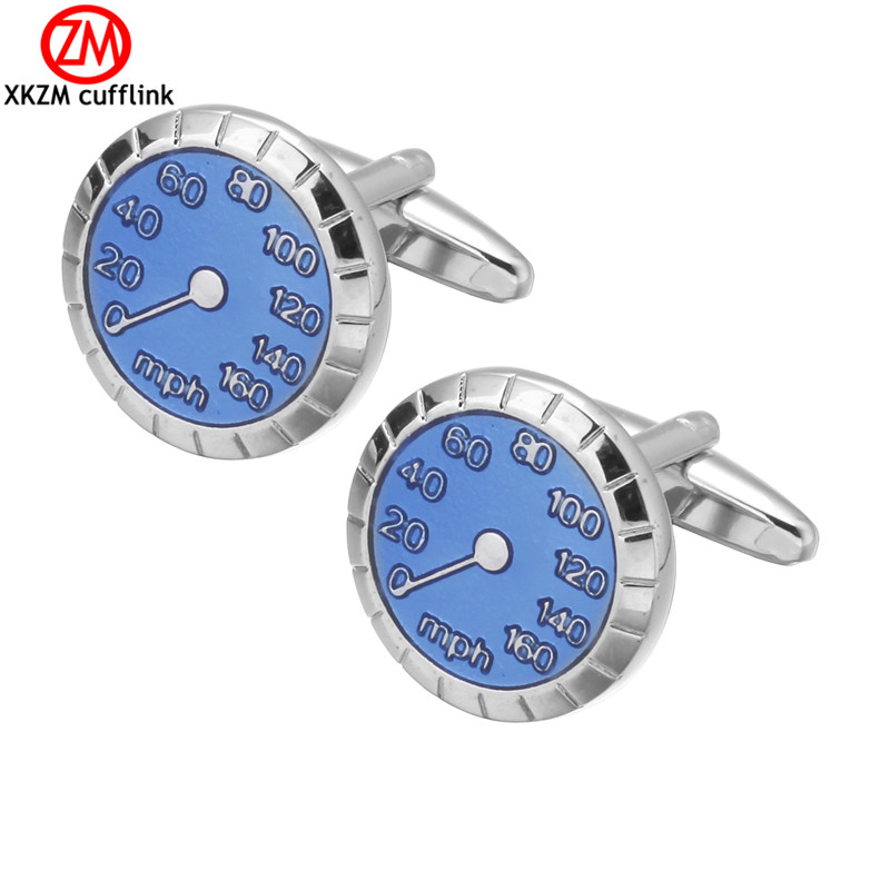 Luxury Men car Blue oil meter Cufflinks High Quality Lawyer Groom Wedding Cufflinks For Mens Shirt Cuff Links French Jewelry