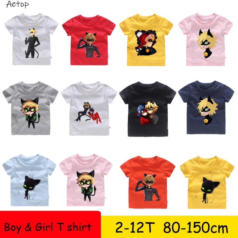 T-Shirt Kids Tops Short-Sleeve Funny Casual Baby-Boys/girls Children Cartoon Summer B099