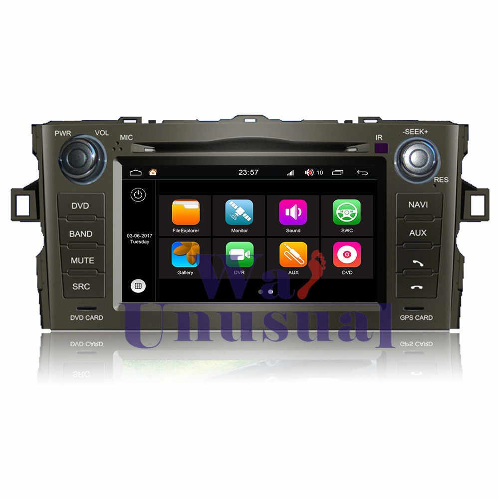 """WANUSUAL 6.95 """"WINCA S190 Android 7.1 Dört Çekirdekli 2G + 16G Araba Radyo Oyuncu için Toyota Auris toyota Corolla 2012-BT WIFI ile"""