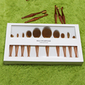 Rose Gold 10pcs/set Oval Makeup Brushes Professional Cosmetic Brush Set Tool Mermaid Toothbrush Shape