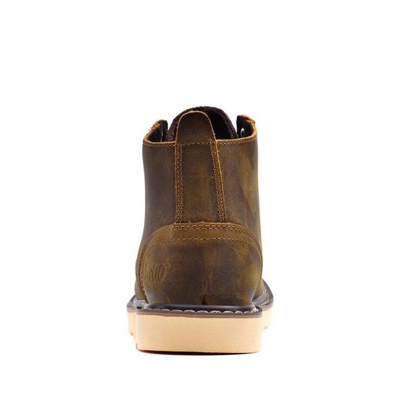 Marchand Cheville Homme Travail dark En Mode Bottes Noir marron Qualité Véritable Hommes Loisirs D'hiver Haute Cuir Nouveau Brown De W2DH9EI