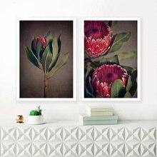 Скандинавские цветы фотографии художественные принты красный чай плакат современный цветочный холст живопись Современные Декоративные Настенные рисунки для гостиной