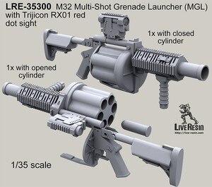 Многофункциональная зеркальная пусковая установка 1:35 M32 (MGL) и Trijicon RX01 red dot sight