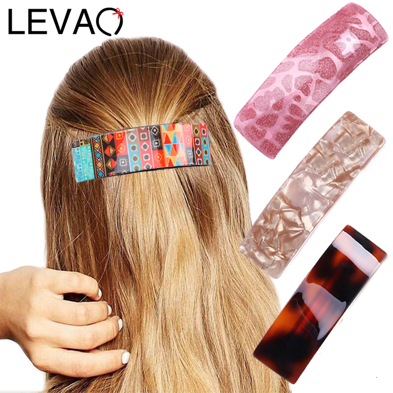 LEVAO Women Headwear Vintage Hairpins Barrettes Girls Cute Hair Clip Ponytail Holder Hair Accessories Random Colors 1pc