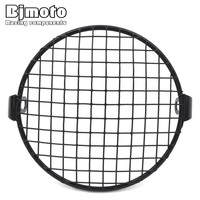 6 5 Inch Metal Motorcycle Front Headlight Lamp Mesh Grille Cover Mask Square Grid For Harley