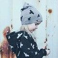 Прекрасный Малыш Дети Девочка Мальчик Зима Теплая Крючком Вязать Hat Шапочка Cap животных печати