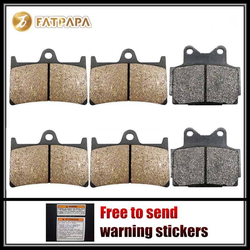 Motor Accessories F + R Brake Pads for <font><b>YAMAHA</b></font> <font><b>600</b></font> FZS <font><b>Fazer</b></font> FZS600 1999 <font><b>2000</b></font> 2001 2002 1998-2003 image