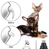 File Kit USB Rechargeable Nails Electric Dog Cat Paw Nail Grinder Cutter Clipper Scissors Pet Grooming