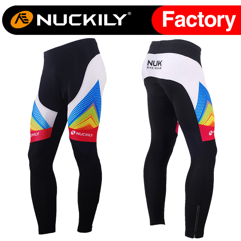 ФОТО Nuckily Winter polyester Long pad pants for cycling clothing  MF013
