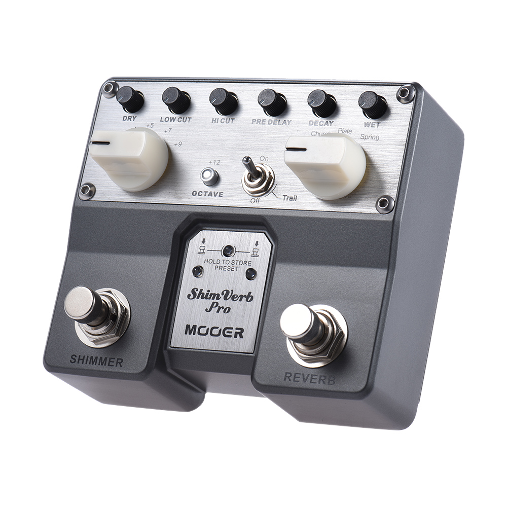 MOOER ShimVerb プロデジタルリバーブギターエフェクトペダルきらめき効果 5 残響モードツインフットスイッチ  グループ上の スポーツ & エンターテイメント からの ギター パーツ & アクセサリー の中 3