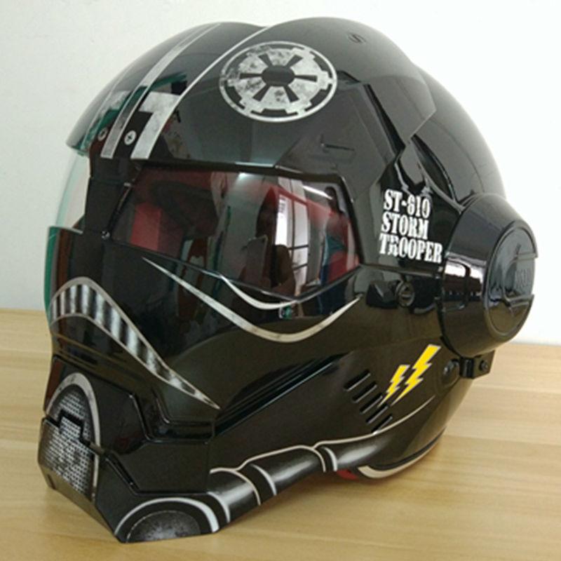 Bluetooth Motorcycle Helmet >> Masei Bright black Star Wars Mens womens IRONMAN Iron Man helmet motorcycle helmet half helmet ...