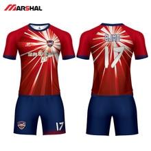 купить 2019 Match Sublimated Personalized Soccer Jersey  Tracksuit Design Football T Shirt Practice Uniforms Football Shirt For Man по цене 1979.88 рублей