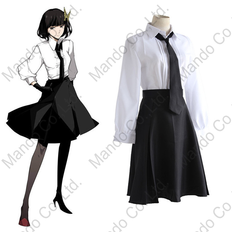 Akiko Yosano Cosplay Bungo Stray Dogs Anime Armed Detective Agency Member Polyester Costume halloween for women girls outfit
