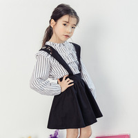 2018 New Pretty Toddler Infant Kids Clothes Baby Girls Black Overall Skirt Party Princess Strap Skirts