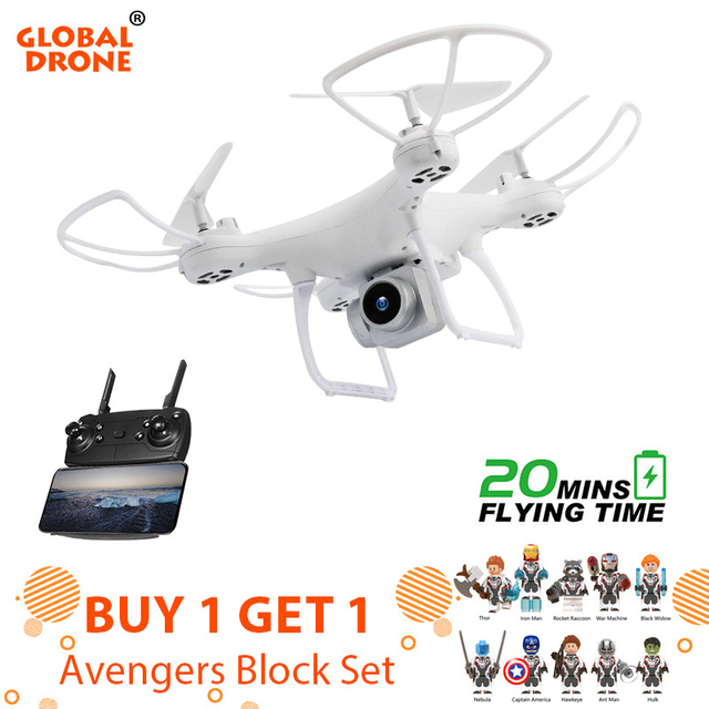 Global Drone GW26 Wifi FPV Quadcopter Altitude Hold Quadrocopter Headless Mode RC Dron with 1080P HD Camera Drones