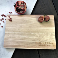 Personalized Bamboo Cutting Board Wedding Gifts Custom Couple Name Engraved Cheese Board Chopping Board Kitchen Supplies