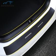 Автомобиль-Стайлинг ПУ после гвардия Назад Задняя накладка на бампер автомобильные аксессуары для skoda Octavia A7 2015 2016 2017 2018 Бесплатная доставка