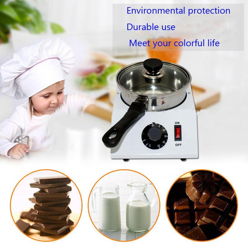 Electric Single cylinder chocolate melting furnace Tempering melting pot chocolate melter stove melting machine single cylinder commercial chocolate melting machine fy qk 620 stainless steel chocolate melting pot 220v 1pc