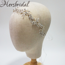 Нежный цветок свадебные волосы лоза ручной работы кристалл свадебное украшение на голову модные свадебные аксессуары для волос