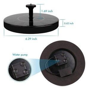Image 3 - Fontaine solaire flottante de forme ronde 1.4W, pompe à eau, bain doiseaux à lextérieur, pour piscine, étang et décoration de jardin