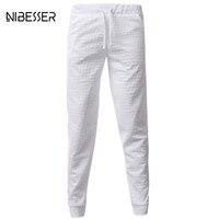 שרוך מכנסי טרנינג אופנה מכנסיים גברים לנשימה 3D מודפס כוכב NIBESSER אורך ארוך יחף מכנסיים מקרית אלסטיים מותן צפצף