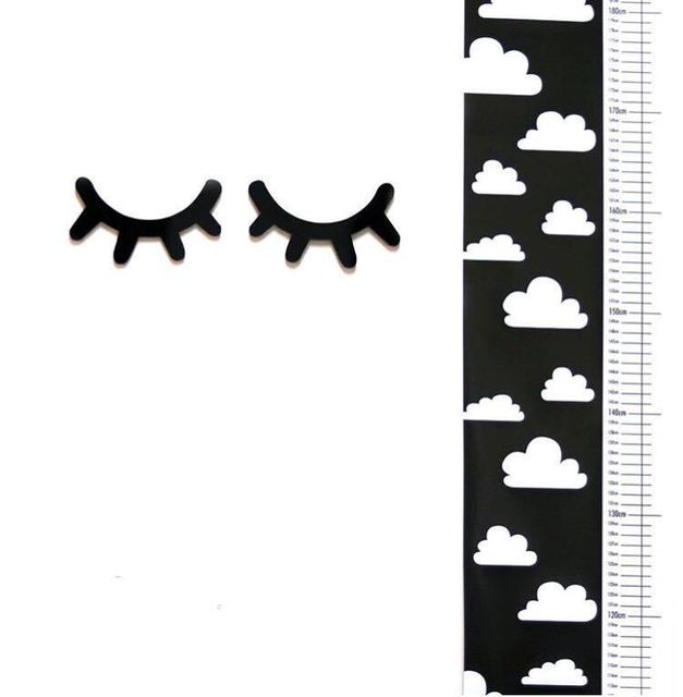 Nordic Clouds Growth Size Chart for Kids Room