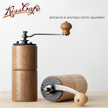 Portable Wooden Burr Coffee Grinder Manual Hand Maker Mill Machine Travel Tools