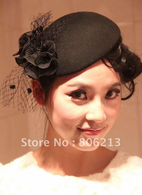 2012 New arrival Blue blooded style black fashion fascinator ship cap hat    derby hats mini top hat plain 573b34db4aa