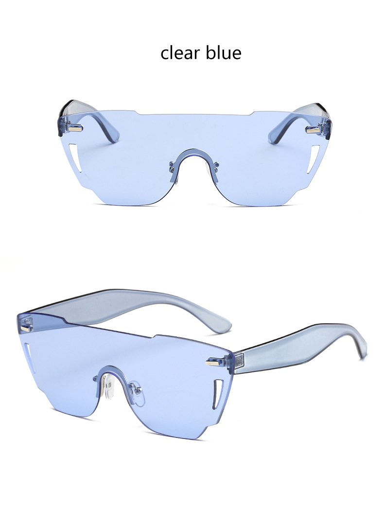 HTB1krRoRXXXXXbUaXXXq6xXFXXXm - Candy Color Sunglasses Flat Top Rimless Sunglasses