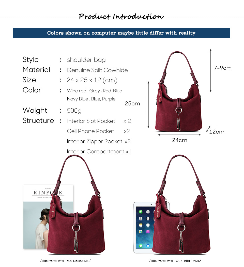 HTB1krRtayrxK1RkHFCcq6AQCVXa6 - Fashion Women Split Leather Shoulder Bag Female Suede Casual Crossbody handbag Casual Lady Messenger Hobo Top-handle Bags