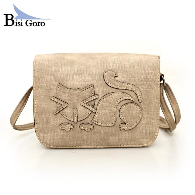 Bisi Goro women bags 2017 women messenger bags high quality handbags shoulder bag Cartoon Printing  summer style purse bags