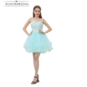 853fda4f1 Azul cielo vestidos De fiesta barato 2019 Sexy Vestido corto Vestido Curto  De fiesta Luxo cariño Mini cóctel vestidos
