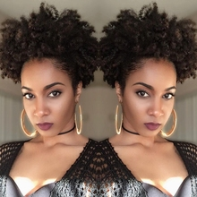 Brazilian Ponytail Human Unprocessed Virgin Kinky Curly Hair Ponytail Extensions Kinky Curly Human Ponytail Hair for Women