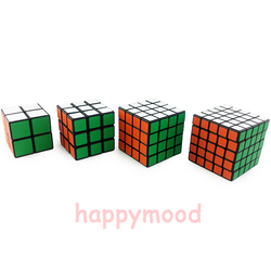 Preto Fosco Profissional Velocidade shengshou Magic Cube Enigma Torção Clássico Jogo Cérebro 2x2x2 3x3x3 4x4x4 5x5x5