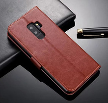 Retro Wallet Phone bags For Samsung Galaxy S9/ S9 Plus Luxury Stand Flip Leather Back Cover For Samsung Galaxy S9 Plus S9 Case цена