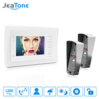 JeaTone 4 HD Wired Video Door Phone Video Door Bell Intercom Kit White Monitor Manual
