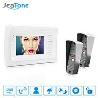JeaTone 4 HD Wired Video Door Phone Video Door Bell Intercom Kit White Monitor Manual