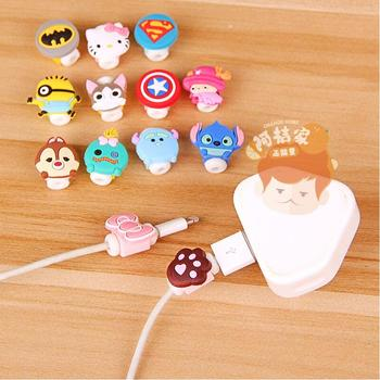 Cartoon Cable Protector Data Line Cord Protector Protective Case Cable Winder Cover For iPhone USB Charging Cable 1