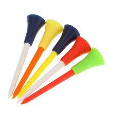 30PC Multi Color Plastic Golf Tees 83mm Durable Rubber Cushi