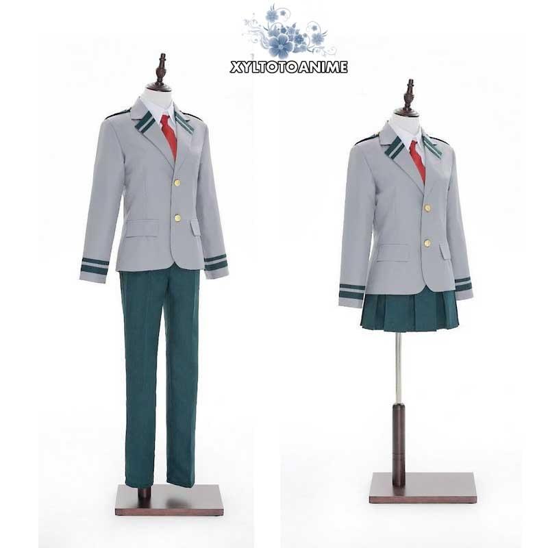 Boku no Hero Academia Midoriya Izuku Bakugou Katsuki OCHACO URARAKA Cosplay Costume My Hero Academia School Uniform