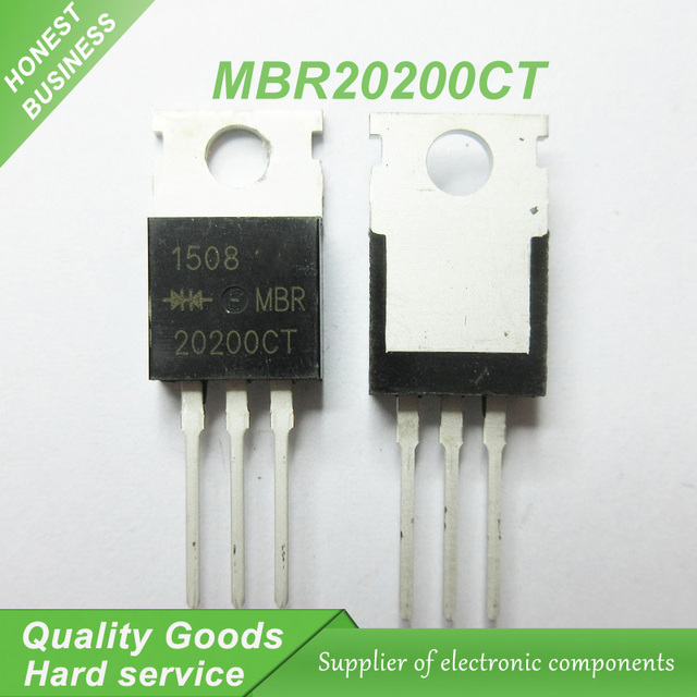 10pcs MBR20200CT MBR20200 MBR20200C TO 220 Schottky & Rectifiers 20 ...