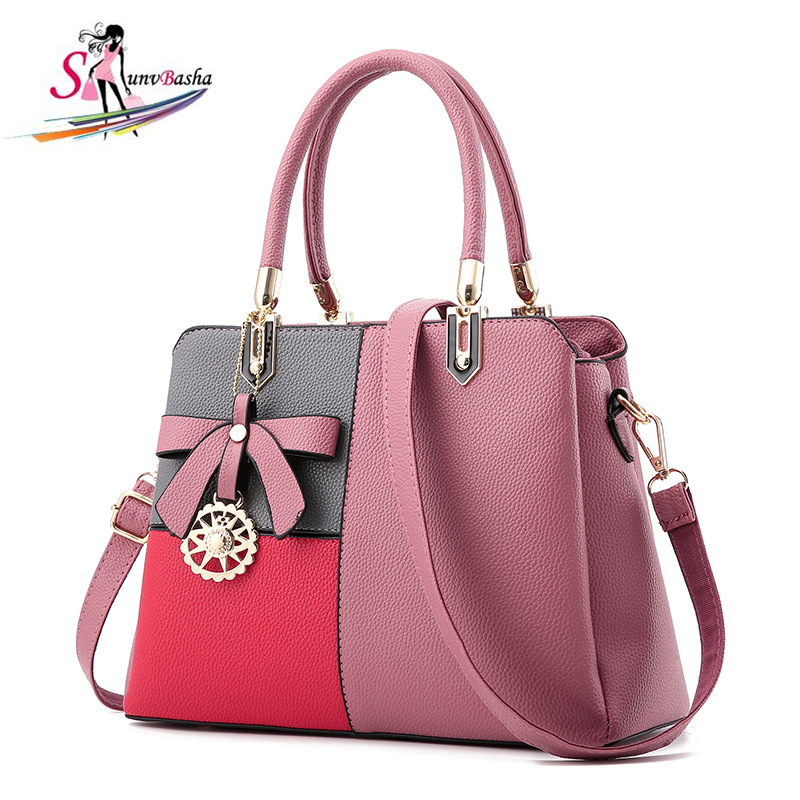 Women Messenger Bags Casual Tote Femme Luxury Handbags Bow Women Bag Cell Phone Pocket High Quality