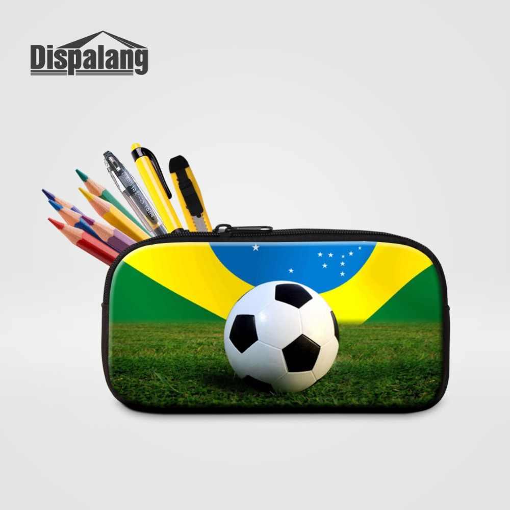 Индивидуальный дизайн, баскетбольные мячи, футбольные мячи, пенал для маленьких мальчиков, маленькая холщовая коробка для ручек, женские Мини-малогабаритные сумочки-косметички