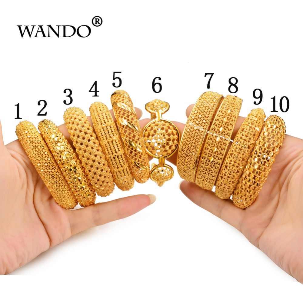 Wando Hollow Pattern Hot Bracelet&Bangles Flower Cuff  Gold Color Wholesale Vintage Ethnic Jewelry For Women Ramadan jewelry
