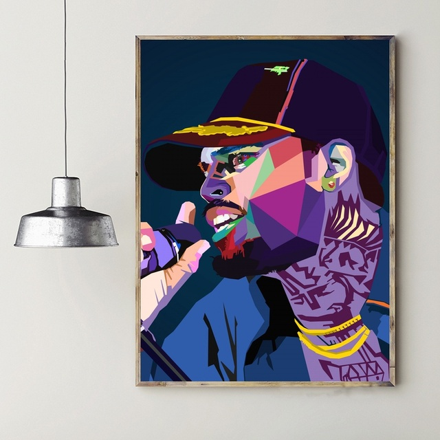 Chris Brown Hip Hop Art Pictures Canvas Paintings Posters Prints For Bedroom Home Decorations