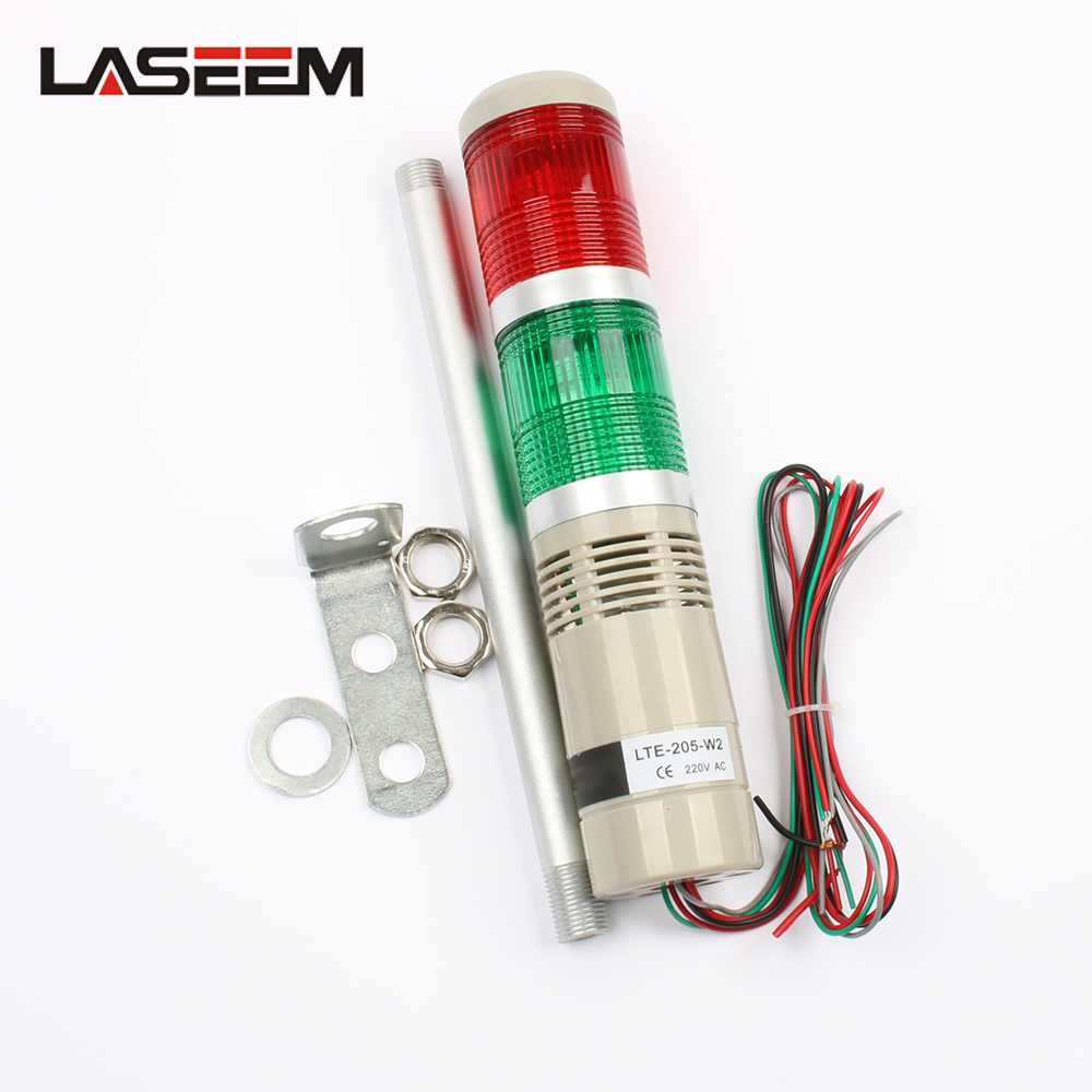 Industrial Multilayer Stack Multi-layer Lamp Signal Tower Alarm Caution Light For Machinery LTA-205 With Buzzer 2 Layer