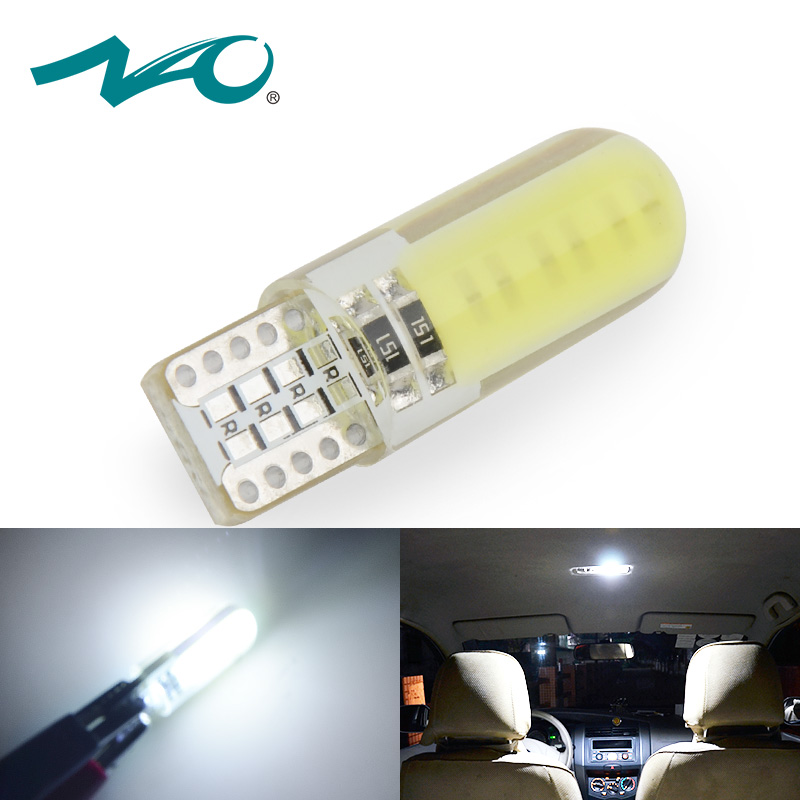 t10 led w5w led car lamp trunk light led lamp for Auto interior Light 12V COB Turn Side Clearance reading reverse bulbs 1pcs NAO nao 6pcs t10 led w5w car bulbs 168 194 turn signal auto clearance lights 12v license plate light trunk lamp cob white 3030 smd